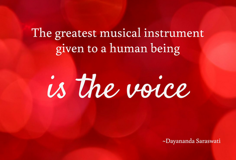 the human voice is the greatest musical instrument